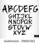 handwritten calligraphic black... | Shutterstock .eps vector #198067361