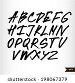 handwritten calligraphic black... | Shutterstock .eps vector #198067379