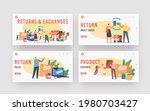 return and exchange landing... | Shutterstock .eps vector #1980703427