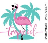 tropicool  funny slogan with... | Shutterstock .eps vector #1980721874