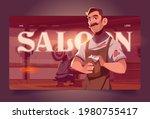 saloon cartoon landing page ... | Shutterstock .eps vector #1980755417