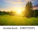 Gorgeous Sunrise In Carpathian...