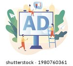 outdoor advertising. tiny... | Shutterstock .eps vector #1980760361