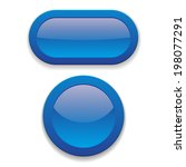 two glossy blue button on white ... | Shutterstock .eps vector #198077291
