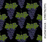 seamless pattern of grapes on a ... | Shutterstock .eps vector #1980782591