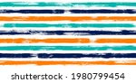 old watercolor brush stripes...   Shutterstock .eps vector #1980799454