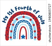 my first 4th of july lettering... | Shutterstock .eps vector #1980805727