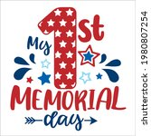 my first memorial day lettering ... | Shutterstock .eps vector #1980807254