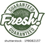 guaranteed fresh rubber stamp | Shutterstock .eps vector #198082157