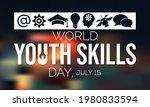 world youth skills day  wysd ... | Shutterstock .eps vector #1980833594