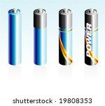 high detailed battery glossy...   Shutterstock .eps vector #19808353