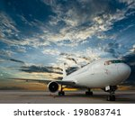 commercial airplane with nice... | Shutterstock . vector #198083741