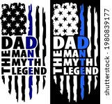 distressed usa flag with dad... | Shutterstock .eps vector #1980839177