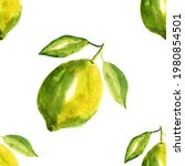 Lime Painted In Watercolor...