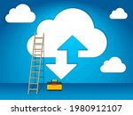 stairway to the sky to the...   Shutterstock .eps vector #1980912107