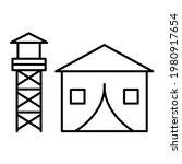 vector military base outline... | Shutterstock .eps vector #1980917654