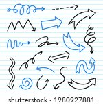 hand drawn arrows set. doodle...   Shutterstock .eps vector #1980927881