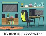 gamer room  modern technology . ...   Shutterstock .eps vector #1980942647