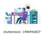 gamer room  modern technology . ...   Shutterstock .eps vector #1980942827
