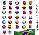 soccer ball  football  with... | Shutterstock .eps vector #198098381