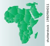 middle east and africa map... | Shutterstock .eps vector #1980984011