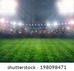 green soccer stadium ... | Shutterstock . vector #198098471