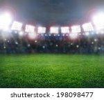 green soccer stadium ... | Shutterstock . vector #198098477
