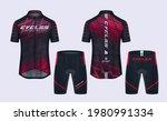 cycling jerseys mockup t shirt... | Shutterstock .eps vector #1980991334