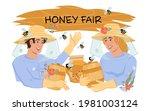 honey fair or festival poster... | Shutterstock .eps vector #1981003124