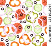 salad ingredients seamless...   Shutterstock .eps vector #1981018064