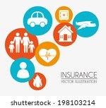 insurances design over beige... | Shutterstock .eps vector #198103214