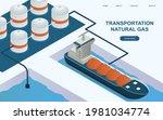 huge tanker is transporting...   Shutterstock .eps vector #1981034774