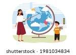 female geography teacher...   Shutterstock .eps vector #1981034834