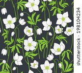seamless floral background with ... | Shutterstock .eps vector #198104234