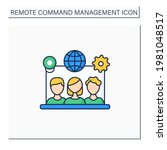 remote team tools color icon.... | Shutterstock .eps vector #1981048517