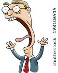 a cartoon businessman screams... | Shutterstock .eps vector #198106919