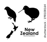 new zealand design over white... | Shutterstock .eps vector #198108164