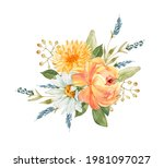Delicate Bouquet With Orange...