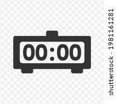 transparent digital clock icon...