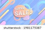 super sale modern banner design ...   Shutterstock .eps vector #1981175387