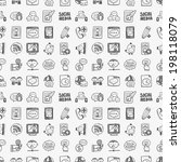seamless doodle communication... | Shutterstock .eps vector #198118079