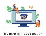 online class  e learning ...   Shutterstock .eps vector #1981181777