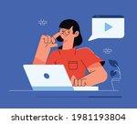 online class  e learning ...   Shutterstock .eps vector #1981193804
