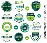 set of marijuana pot product... | Shutterstock . vector #198120821