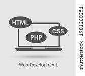the web development icon.the...