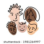 family portrait. doodle avatar... | Shutterstock .eps vector #1981264997