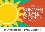 summer sun safety month is... | Shutterstock .eps vector #1981288544