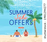 summer shopping event...   Shutterstock .eps vector #1981294277