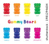 cute gummy bears set vector...   Shutterstock .eps vector #1981294604