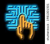 biometric fingerprint...   Shutterstock .eps vector #1981301501